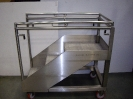 Stainless steel stair with extendable hand rail