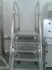 Stainless Steel cross over stairway